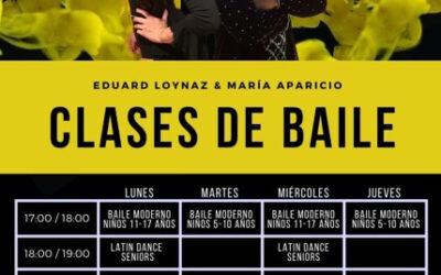 Horario de bailes latinos y bailes modernos niños y junior