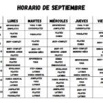 Horarios de septiembre